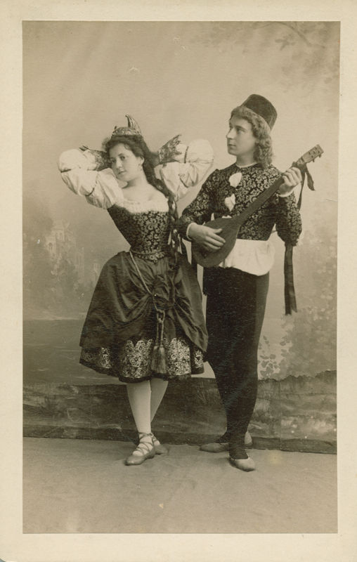 Polina Tsalisson and Anatoly Pantaleyev in the Venetian Dance (1895)