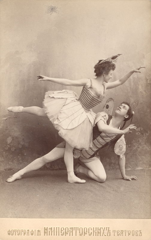 Olga Preobrazhenskaya as the Butterfly and Nikolai Legat as the Phoenix Moth (1908)