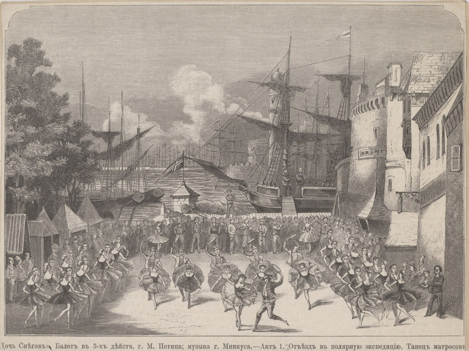 "Lithograph of Act 1, ""The Sailors' Dance"" (1879)"