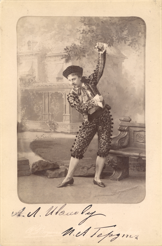 Pavel Gerdt in the Dance of the Spanish Lace in The Magic Pills (1886)