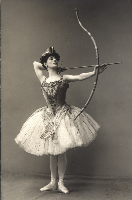 Anna Pavlova as Princess Aspicia in Alexander Gorsky's revival (1906)