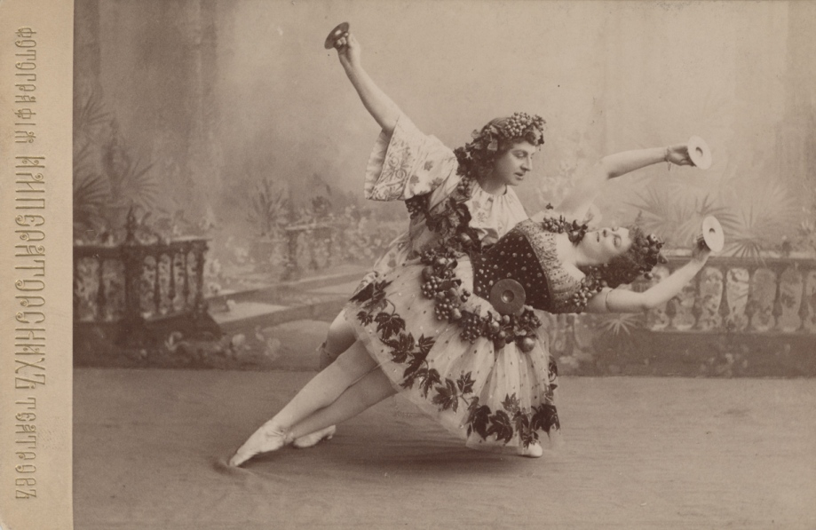 Pavel Gerdt as Bacchus and Marie Petipa as Bacchante (1900)