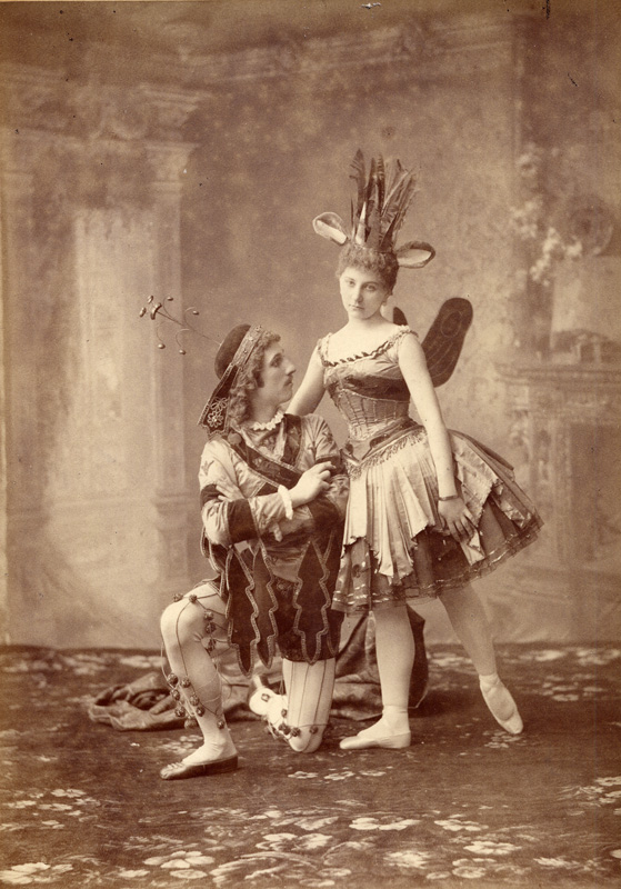 Claudia Kulichevskaya as the Breacrumb Fairy and Iosif Kschessinsky as her page (1890)