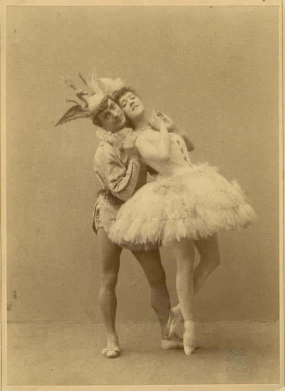 Enrico Cecchetti as the Bluebird and Varvara Nikitina as Princess Florine (1890)