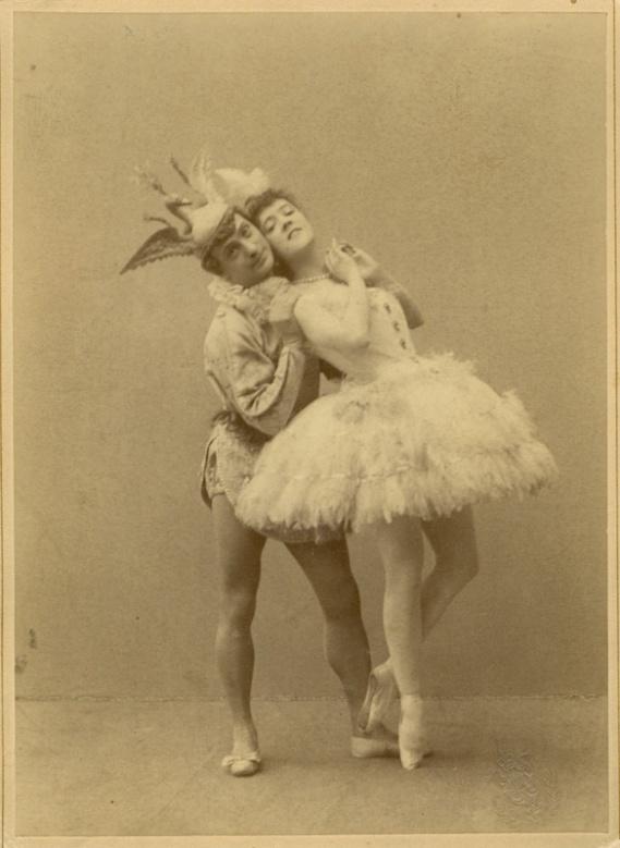 Enrico Cecchetti as the Bluebird and Varvara Nikitina as Princess Florine (1890)