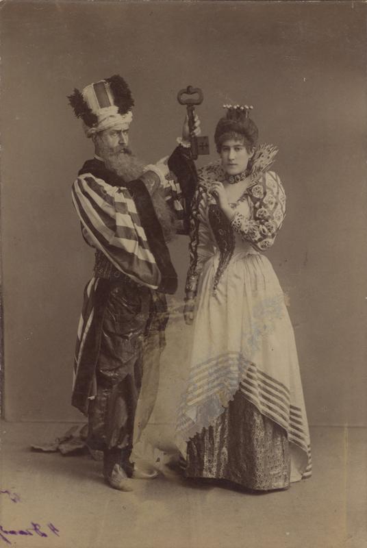 Konstantin Tatarinov as Bluebeard and Anna Antonova as his wife (1890)