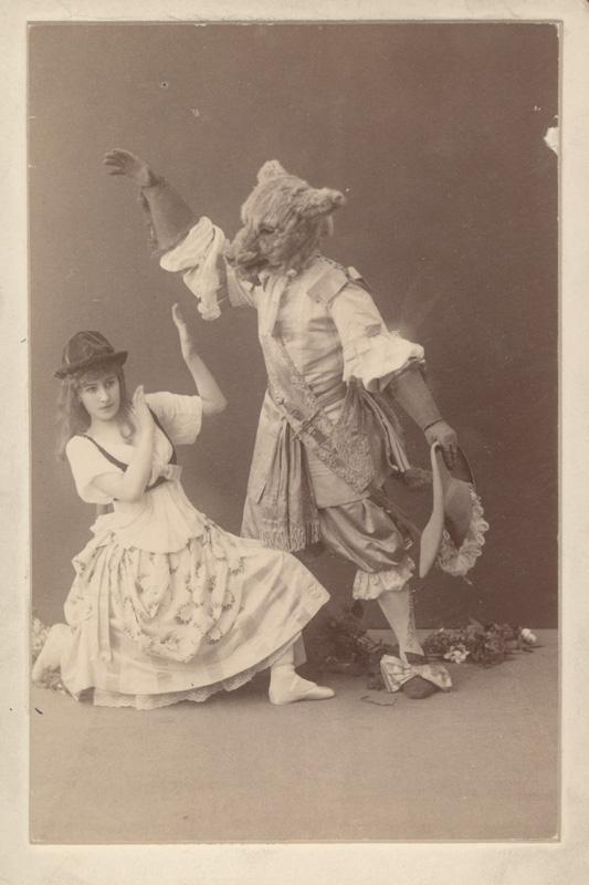 Matilda Kschessinskaya as Little Red Riding Hood and Alexander Gorsky as the Wolf (1890)