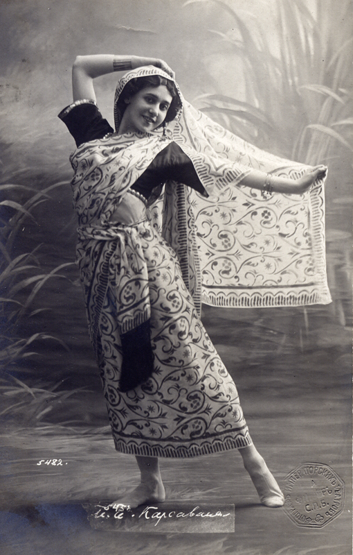 Tamara Karsavina as Nerilya in Nikolai Legat's revival (1909)