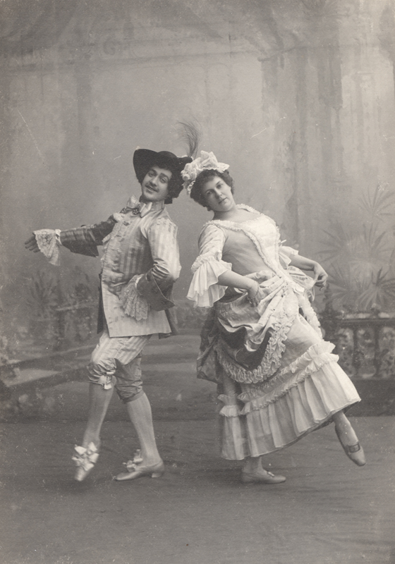 "Sergei Legt and Marie Petipa in the dance ""La Fricassee"" (1900)"