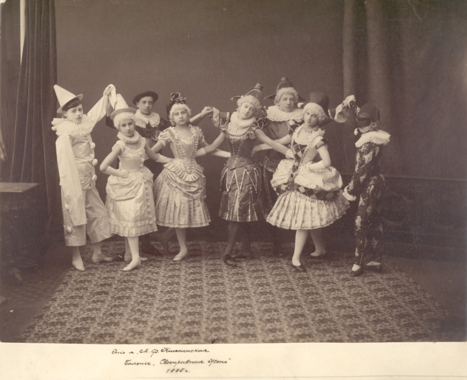 The Children's Dance; second to the left is a young Matilda Kschessinskaya (1885)