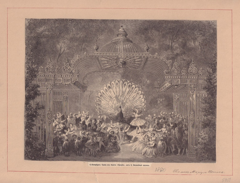 "Lithograph of ""The Magic Peacock"" from Act 2"