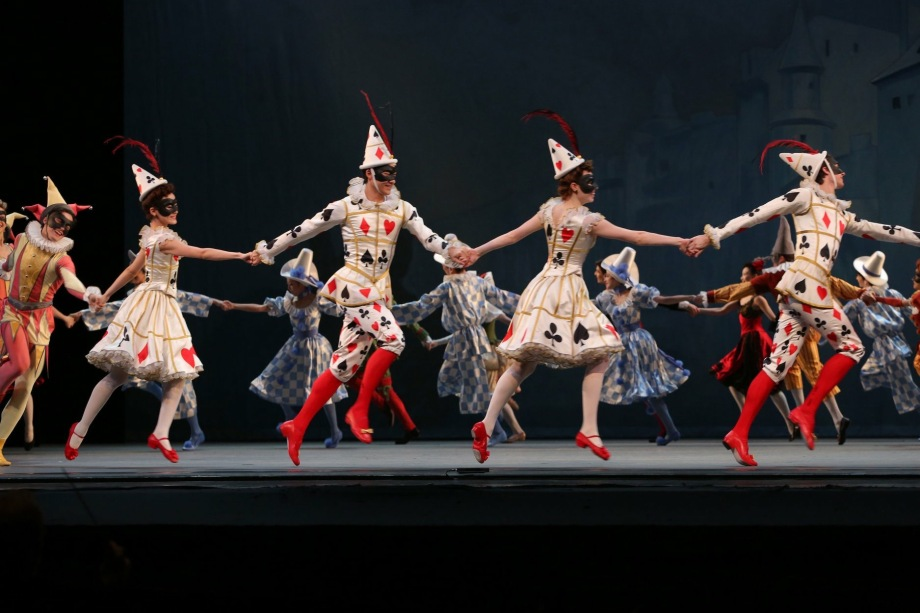 "American Ballet Theatre in Alexei Ratmansky's reconstruction of ""Harlequinade"" (2018)"