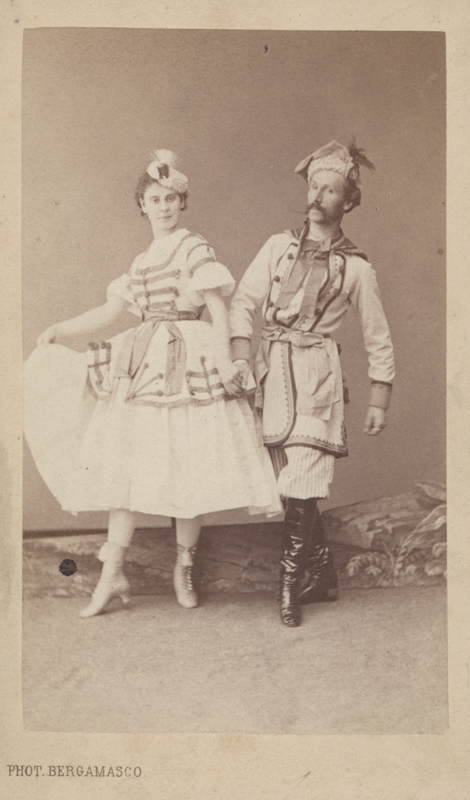 Lyubov Radina and Felix Kschessinsky in a Marzuka (1867)
