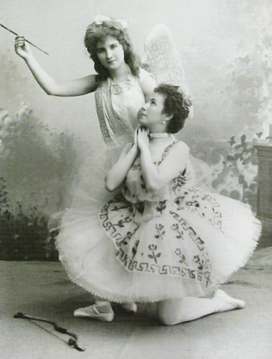 Matilda Kschessinskaya as Flora and Vera Terfilova as Eros (1894)