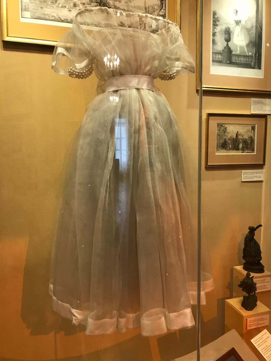 Marie Taglioni's costume for the Sylph on display at the Saint Petersburg Theatre Museum (2018)