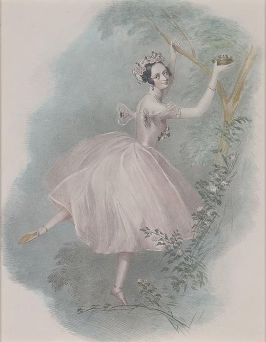 Marie Taglioni as the Sylph, lithograph by Alfred Edward Chalon (1832)
