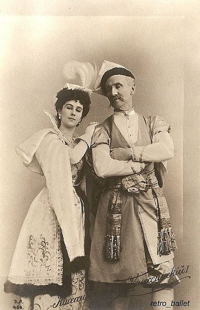 Matilda Kschesshinska and her father Felix Kschessinsky in the Mazurka