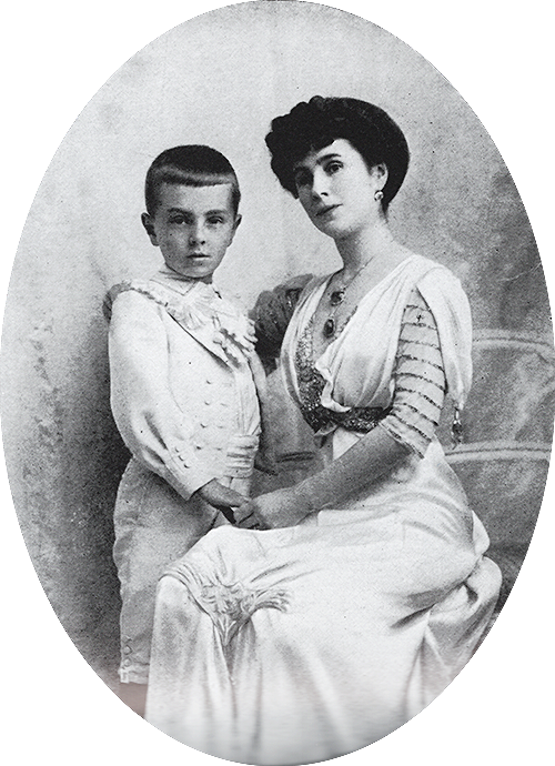 Matilda Kschesshinskaya and her son Vova