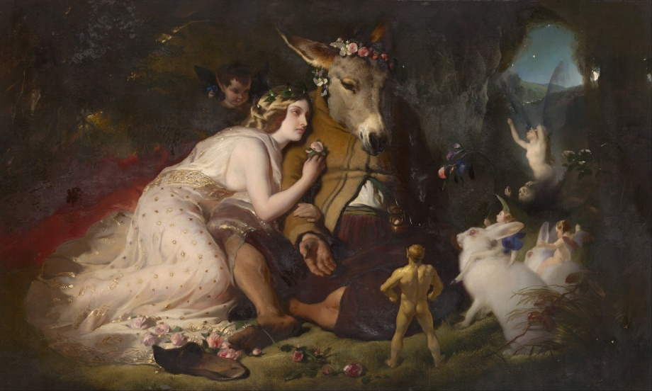Scene from A Midsummer Night's Dream: Titania and Bottom by Edwin Landseer (1851)