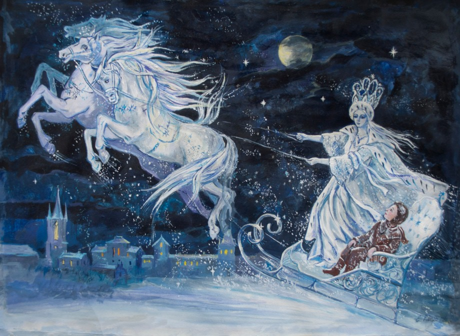 The Snow Queen illustration by Elena Ringo